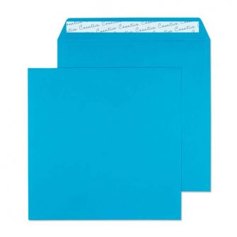 Square Wallet Peel and Seal Caribbean Blue 220x220 120gsm Envelopes