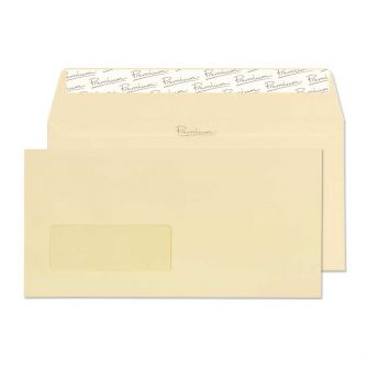 Wallet Peel and Seal Window Vellum Wove DL 110x220 120gsm Envelopes