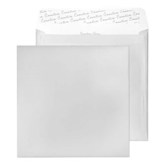 Square Wallet Peel and Seal Metallic Silver 220x220 130gsm Envelopes