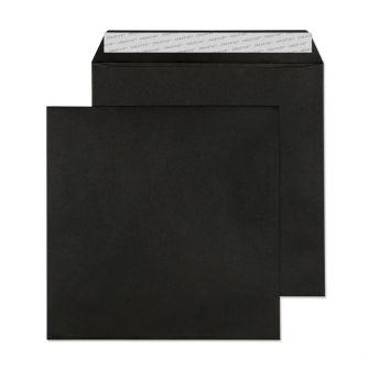 Square Wallet Peel and Seal Jet Black 220x220 120gsm Envelopes