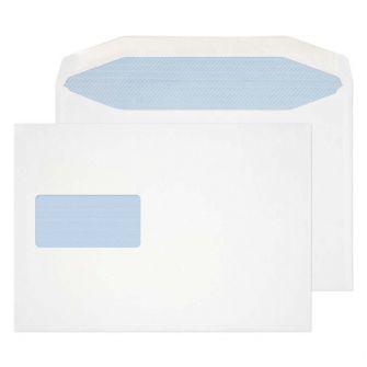 Mailer Gummed High Window White 178x254 90gsm Envelopes