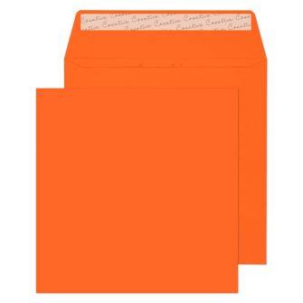 Square Wallet Peel and Seal Pumpkin Orange 160x160 120gsm Envelopes