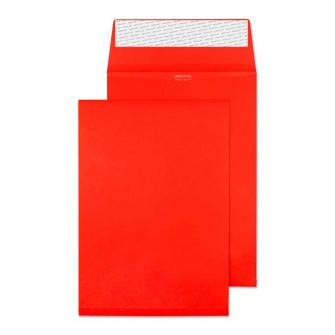 Gusset Pocket Peel and Seal Pillar Box Red C5 229x162x25 140gsm Envelopes