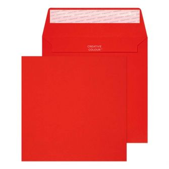 Square Wallet Peel and Seal Pillar Box Red 160x160 120gsm Envelopes