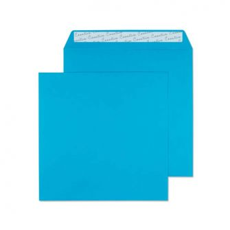 Square Wallet Peel and Seal Caribbean Blue 160x160 120gsm Envelopes