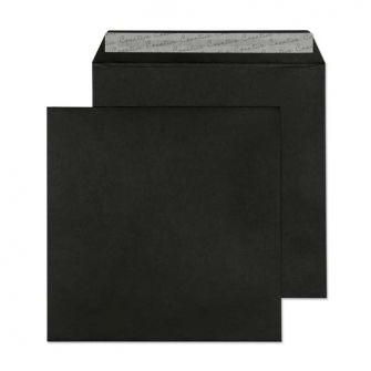 Square Wallet Peel and Seal Jet Black 160x160 120gsm Envelopes