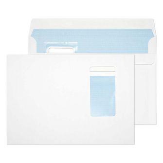 Wallet Self Seal Portrait Window White C5 162x229 100gsm Envelopes
