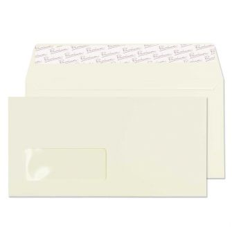 Wallet Peel and Seal Window Oyster Wove DL 110x220 120gsm Envelopes