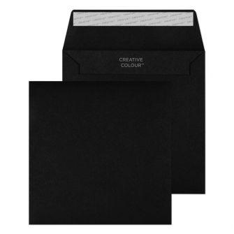 Wallet Peel and Seal Jet Black 155X155 120GSM Envelopes