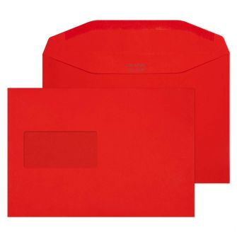 Mailer Gummed Window Pillar Box Red C5+ 162x235 Envelopes