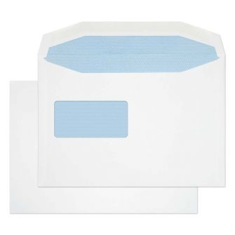 Mailer Gummed Reverse Window White C5 162x229 100gsm Envelopes
