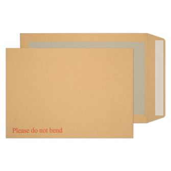 Board Back Pocket Peel and Seal Manilla B4 352x250 120gsm