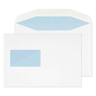 Wallet Gummed Window White 162X235 110GSM Envelopes