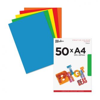 Coloured Paper A4 Assorted 120gsm 210x297