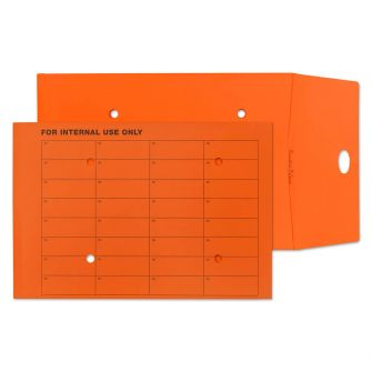 Gusset Pocket Internal Mail Resealable Orange C4 324x229x25