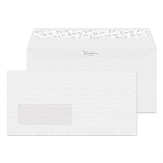 Wallet Peel and Seal Window Diamond White Laid DL 110x220 120gsm Envelopes