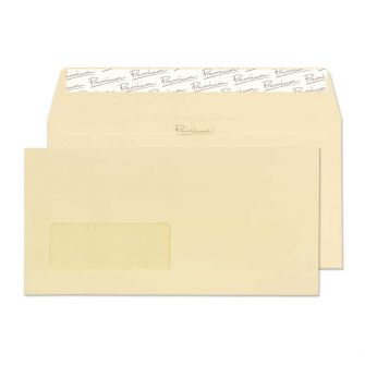 Wallet Peel and Seal Window Vellum Laid DL 110x220 120gsm Envelopes