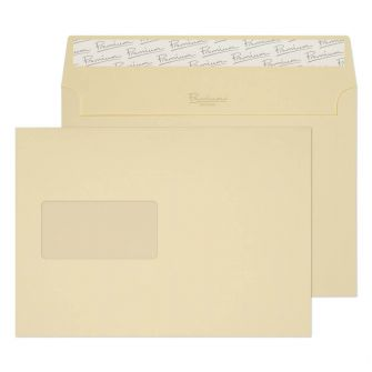 Wallet Peel and Seal Vellum Laid 120GM Window BX500 C5 162x229 Envelopes