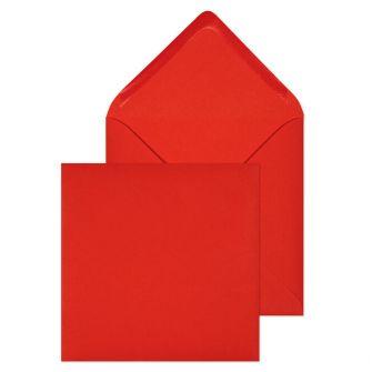 Banker Invitation Gummed Red 100GM BX500 155x155 Envelopes