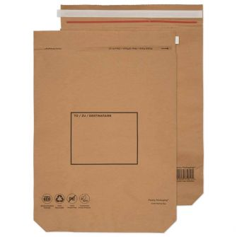Kraft Mailing Bag Peel and Seal Natural Brown 600x480x80 110gsm