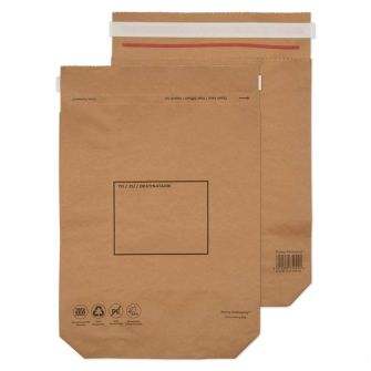 Kraft Mailing Bag Peel and Seal Natural Brown 420x340x80 110gsm