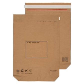 Kraft Mailing Bag Peel and Seal Natural Brown 480x380x80 110gsm