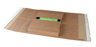 Postal Wrap Peel and Seal Kraft 455x320x20-100