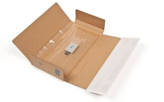 Postal Box Peel and Seal Kraft 235x122x20