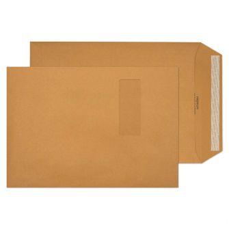 Pocket Peel and Seal Window Cream Manilla C4 324x229 130gsm Envelopes