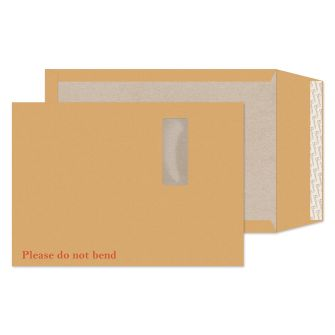 Board Back Pocket Peel and Seal Window Cream Manilla C4 324x229 130gsm Envelopes