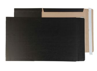 Book Wrap Peel and Seal Jet Black A4+ and SRA4 350x250x50