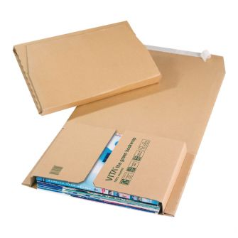 Green Bookwrap Manilla Peal & Seal 310x250x70mm