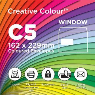 C5 Window Wallet Peel and Seal 162x229mm 120gsm Envelopes