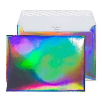 Wallet Peel and Seal Shimmering Rainbow C5 162x229 140gsm Envelopes