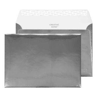 Wallet Peel and Seal Chrome Plated C5 162x229 140gsm Envelopes