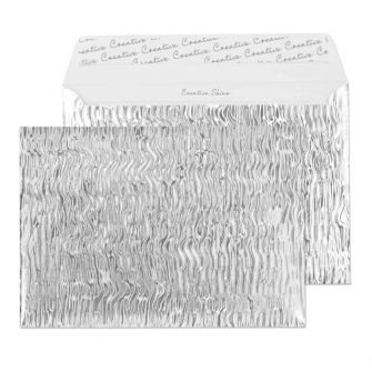 Wallet Peel and Seal Metal Ripple C5 162x229 140gsm Envelopes