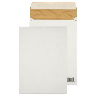Padded Gusset Eco Cushion Pocket Peel and Seal White C4 324x229x50 140gsm