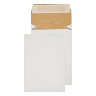 Padded Gusset Pocket Peel and Seal White B5 254x178x50mm 140gsm