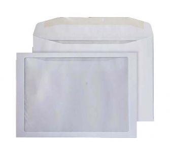 Mailer Gummed Full Face Window White C4 229x324 100gsm Envelopes