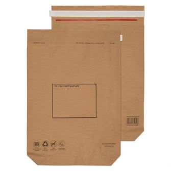 Kraft Mailing Bag Peel and Seal Natural Brown 530x480x80 110gsm