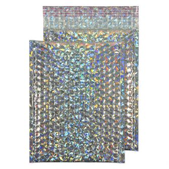 Metallic Bubble Padded Pocket Peel and Seal Holographic BX100 250x180