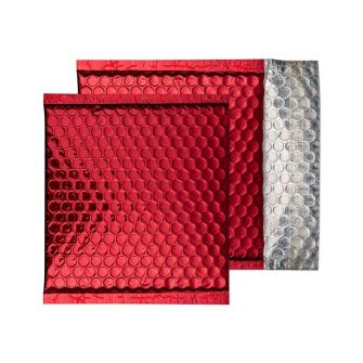 Padded Bubble Wallet Peel and Seal Festive Red CD 165x165