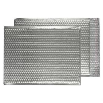 Padded Bubble Pocket Peel and Seal Metallic SIlver C3 450x324