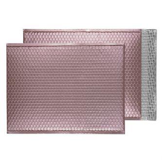 Metallic Bubble Padded Pkt P/S Matt Baby Pink BX50 450x324