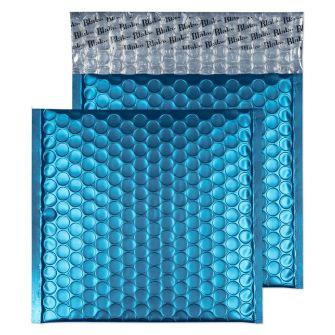 Metallic Bubble Padded Wlt P/S Matt Caribbean Blue BX100 165x165