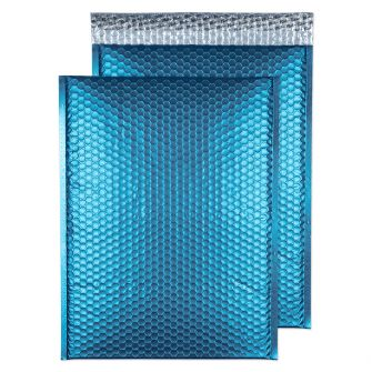 Metallic Bubble Padded Wlt P/S Matt Caribbean Blue BX50 450x324