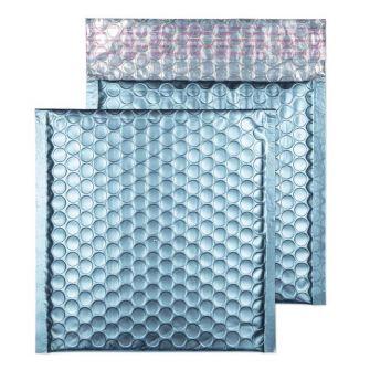 Metallic Bubble Padded Wlt P/S Matt Cotton Blue  BX100 165x165
