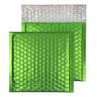Metallic Bubble Padded Wallet Peel and Seal Avocado Green BX100 165x165