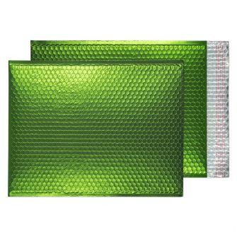 Metallic Bubble Padded Pocket Peel and Seal Avocado Green BX50 450x324