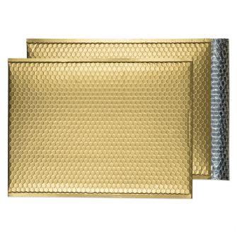 Metallic Bubble Padded Pkt P/S Matt Metallic Gold Box 50 450x324